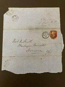 Postal History GB QV 1872 Hornsea, Hull CDS Parish Return 1d Red PL144 Cat£25