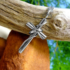 Small Luxury Cross Pendant with Ring Stainless Steel Necklace Chain for Men/Wome