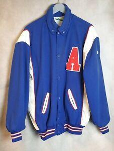 Vintage Holloway Varsity Bomber Jacket Wool & Leather Letterman Leather 60s 50s
