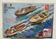 AMT 3 in 1 Customizing Boat Kit - Plastic Model Runabout or Dragster 1/25 Scale