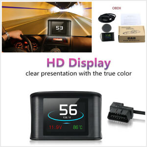 Car Digital OBDII Driving Computer Display Speedometer Coolant Temperature Gauge