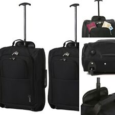 NEW 2 Pcs Hand Luggage Travel Cabin Suitcase Bag Baggage Wheels Carry Plane Case