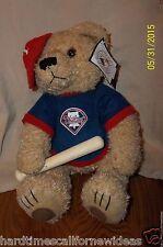Philadelphia PHILLIES Teddy Bear Hat Bat Good Stuff Plush 2004 With Tag