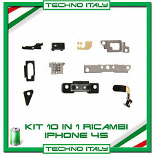 PER IPHONE 4S SET 10 PARTI DI RICAMBIO INTERNE SUPPORTI VOLUME POWER APPLE
