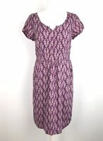 White Stuff Tunic Dress Size 12 Floral Pockets Lined Holiday Cruise Beach