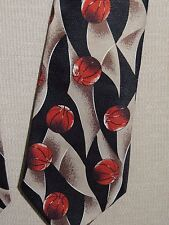 "A Rogers Hand Made 1997 Basketball Neck Tie/ Necktie 59""x4"""