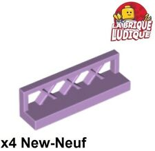 New listing LEGO - 4x Fence Barrier Fence 1x4x1 Lavender/Lavender 3633 New