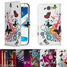 BOOK WALLET PU LEATHER CASE COVER FOR SAMSUNG GALAXY NOTE 2 N7100 / NOTE 3 N9000