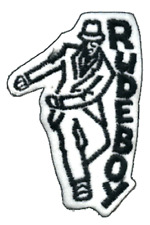 9453 Rude Boy Ska Dancing Skanking Zoot Suit Embroidered Sew Iron On Patch