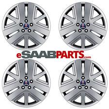 "(4x) SAAB Genuine 3-Spoke Inca 18x7.5"" Alloy Wheels NEW (Set of 4) 5x110 ET41"
