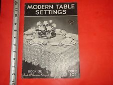 HS840 Vintage 1937 Spool Cotton Co Sewing Catalog Book 88 Modern Table Settings
