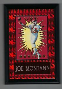 "Vintage 1994-1995 6.5"" x 4.5"" Card Plaque Joe Montana Kansas City KC Chiefs"