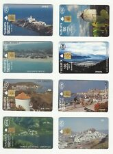 OTE 1996 GREEK GREECE PHONECARDS – LOT OF EIGHT – TIRAGE 100.000 - 200.000