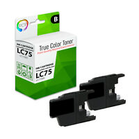 2Pk TCT LC75 Black LC75BK High Yield For Brother MFC-J430W J435W Compatible Ink