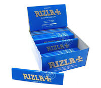 ORIGINAL 12 x GENUINE RIZLA BLUE KING SIZE SLIM CIGARETTE SMOKING ROLLING PAPERS