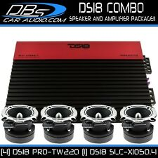 4 DS18 PRO-TW220 Super Bullet Tweeter Speaker | SLC-X1050.4 Car Audio Amplifier