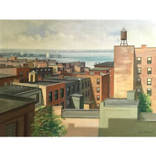 1950's East Coast Scene, M. Wolf Painting