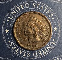 1908-S INDIAN HEAD COPPER CENT COLLECTOR COIN FOR YOUR COLLECTION.