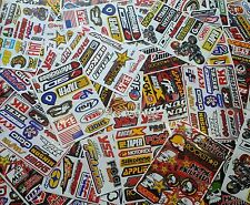 9 Mixed Sheets Random Stickers Motocross Car ATV Racing Dirt Bike Helmet Decal