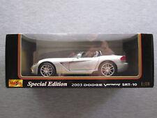 Maisto Special Edition 1:18 2003 Dodge Viper SRT-10 (Silver) #31632 - NEW