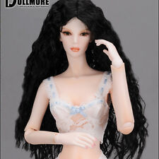 "Dollmore BJD 16"" fashion doll wig size (4-5)"" Parting Long Sobazu (Black)"