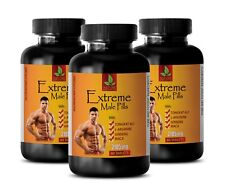 bodybuilding - EXTREME MALE PILLS 2185mg - ginseng plant - 3 Bottles