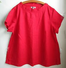 FLAX   LINEN   Shirt     3G    NWT   Truly Dreamy  RED
