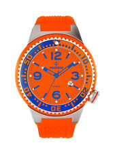 POSEIDON Herren-Armbanduhr XL Slim Analog Silikon UP00263 Orange UVP 119,- €