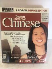 Instant Immersion Chinese Mandarin & Cantonese 4 CD-ROMS