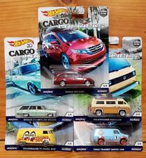 Hot Wheels 2018 Car Culture Cargo Carriers Vw's Honda Nissan Ford. Set of 5
