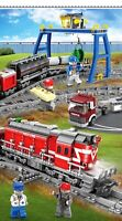 Lego MegaBloks TRENO Compatibil100% ☆TRENO MERCI CON PONTE CARGO B/O ☆►NEW◄ MISB