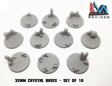 3D Printed - 32mm Scenic Crystal Cluster Bases - Sets of 5 & 10 Bases