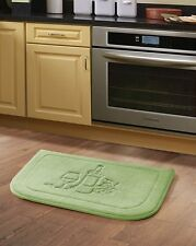 Sage Green Wine Memory Foam Anti Fatigue Kitchen Floor Mat Rug
