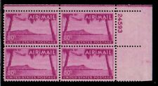 ALLY'S STAMPS US Plate Block Scott #C46 80c Hawaii [4] MNH F/VF OG UR
