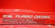 "7.3L Turbo diesel (pair) Hood sticker decals FITS FORD F250, F350 ""NEW STYLE"""