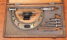 """Mitutoyo 104-162 2"""" to 6"""" imperial micrometer with standards and anvils."""