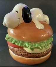 Snoopy peanuts money bank tirelire Hamburger junkfood schulz noze no paint