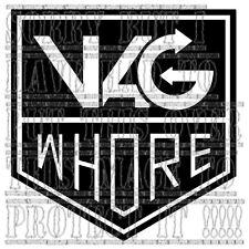 VAG WHORE LUPO POLO GOLF GTI TURBO R32 S3 S4 S6 graphic sticker vinyl sidestripe