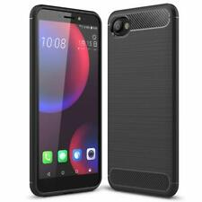 For HTC Desire 12 Case Silicone Carbon Slim Shockproof Gel Phone Cover