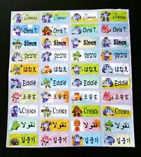 120 POLI CAR Custom Waterproof Name Labels-SCHOOL,NURSERY(Buy 5 get 1 FREE)