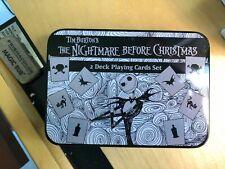 TIM BURTON'S NIGHTMARE BEFORE CHRISTMAS 2 DECK PLAYING CARDS NIB NECA