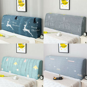 Bed Headboard Cover Stretch Bedside Cover Head Board Back Protector Printed Dust