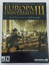 EUROPA UNIVERSALIS III 3 NEW COLLECTORS EDITION (PC 2007) Strategy Game w/ map
