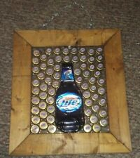 Unique Miller Lite 2006 Gold World Beer Cup Caps Bottle Sun Catcher Folk Art