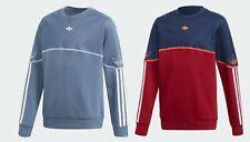 Junior Niños Chicos Unisex Sudadera Jumper Adidas Originals Contorno Redondo Azul