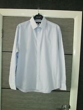 """MENS TAILOR & CUTTER (GEORGE) BLUE STRIPED SHIRT SIZE 16"""""""
