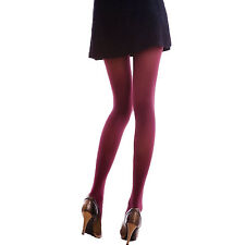 Colorful Ladies Winter Tights Fashion Lingerie Hosiery 80d Opaque Pantyhose Maroon One Size Regular