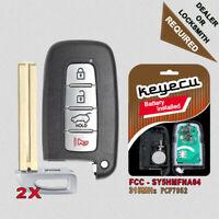 2X Replacement Remote Key Fob 315MHz 4B for Hyundai Kia 2011-2017 SY5HMFNA04