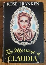 MARRIAGE OF CLAUDIA- VINTAGE BOOK- ROSE FRANKEN - THE BOOK CLUB