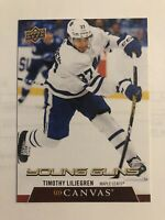 Timothy Liljegren 2020-21 Upper Deck Young Guns  UD Canvas #C104 Maple Leafs RC
